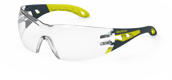Hexarmor Mx200 Safety Glasses Clear Lens Clear Color 12 Box
