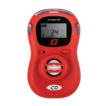 3M Scott Protégé ZM Single Gas CO Monitor (096-3459-01) in Red