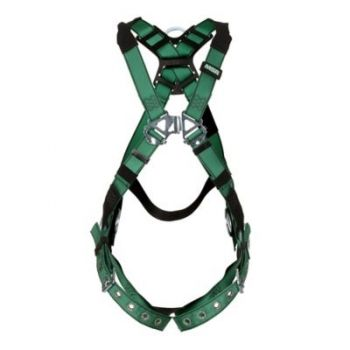 MSA 10197215 V-FORM Harness, Standard, Back & Hip D-Rings, Tongue Buckle Leg Straps
