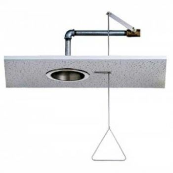 Recessed Emergency Shower with Pull Rod