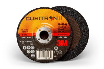 3M™ Cubitron™ II Depressed Center Grinding Wheel, (78468-Q), T27, 4 in x 1/4 in x 5/8 in, 10 per inner, 20 per case