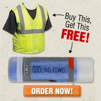 Buy EZ-Cool Vest Get FREE EZ-Cool Cooling Towel