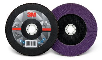 3M 769F Flap Disc, 60+ Grit YF Weight, T27 Disc Type, Case Of 5