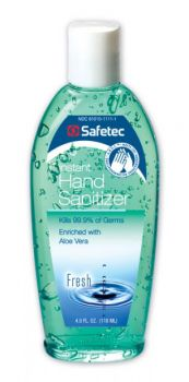 Safetec Hand Sanitizer Clear Liquid 4oz - 1 Box