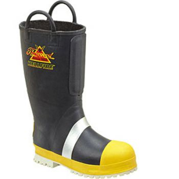 Wienbrenner Rubber Insulated Felt Fire Boots with Lug Sole