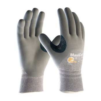 PIP ATG 19-D475 MaxiCut Dry Gloves - ANSI A4 EN 5 with Dyneema - Nitrile Foam - Gray Color (1 DZ)