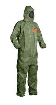 DuPont™ QS127TGR Tychem 2000 SFR Coveralls, Green (Case of 4)