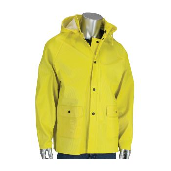 PIP FALCON FLEX 2 PIECE RAIN JACKET Ribbed PVC Jacket  Hood Yellow  1 EA