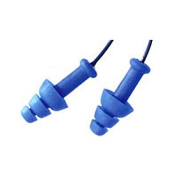 Howard Leight Corded Smart Fit Blue Earplugs