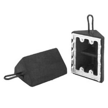 Checkers Standard Utility Rubber Wheel Chock with Ice Cleat