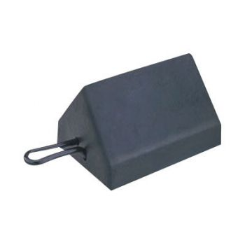 Checkers Standard Utility Rubber Wheel Chock with Solid Bottom
