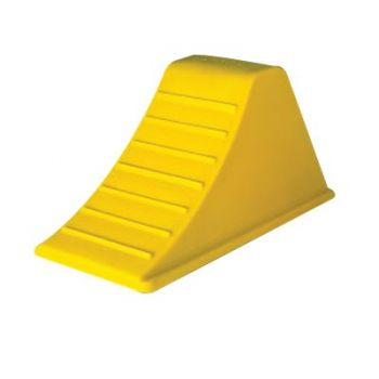 Fire Equipment Wheel Chock w/Rubber Pad-Tires up to 44 Inch Diameter