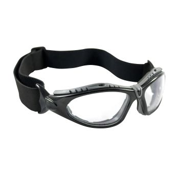 PIP Fuselage Full Frame Safety Glasses  Black Frame Foam Padding Clear Lens and Anti Scratch / Anti Fog Coating 72/Pairs