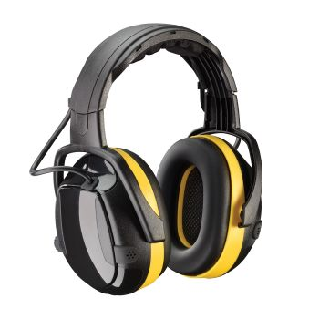 """PIP Hellberg Secure  Activeâ""""¢ Electronic Ear Muff with Headband Adjustment and Active Listening - NRR 24 EarMuff Black Color One Size - 1 PR"""