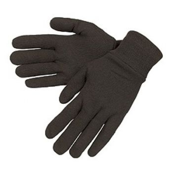 Brown Reversible Jersey Gloves
