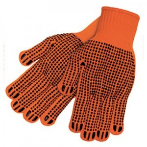 Orange High Visibility Dotted String Glove