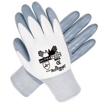 Memphis 9683 Ultratech Gloves from MCR with Nitrile Coating - 15 Gauge (1 DZ) Large