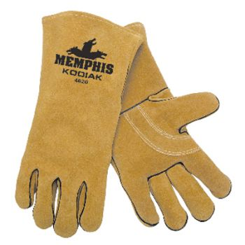 MCR Kodiak®, Premium brown select side leather, reinforced palm, wing thumb  1 Pair