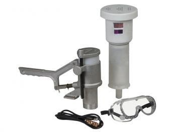Aerosolv Standard System For Recycling Aerosol Cans, Puncturing Unit, Filter, Wire, and Goggles