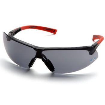 Pyramex Onix Safety Glass - Gray Lens with Orange Temples