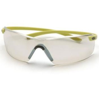 Pyramex Montego Safety Glass - Indoor/Outdoor Lens with Hi-Vis Temples