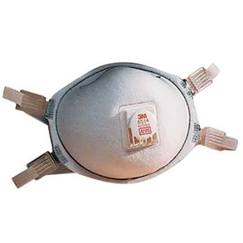 3M™ Particulate Respirator 8514, N95, with Nuisance Level Organic Vapor Relief (Box of 10)