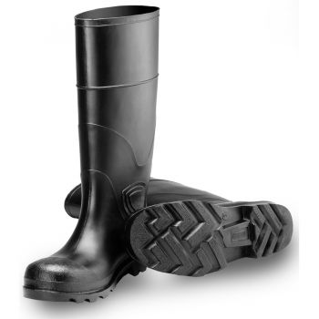 "Tingley General Purpose Knee Boot Black Upper Black Sole Ht. 15"" Plain Toe Cleated Outsole"