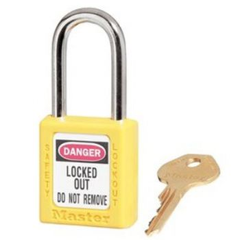 Masterlock Xenoy 410 Yellow Safety Padlocks - Keyed Alike