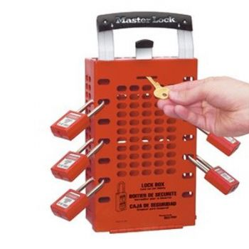 Masterlock Red Dual Application Group Lock Box