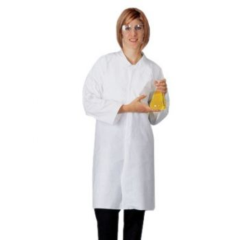 Lakeland 07101 Pyrolon Plus 2 Long Sleeve Lab Coat 30/Case