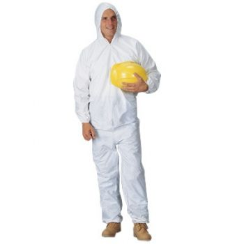 Pyrolon Plus 2 Disposable Coveralls  Attached Hood Elastic Wrists and Ankles (25 Per Case)