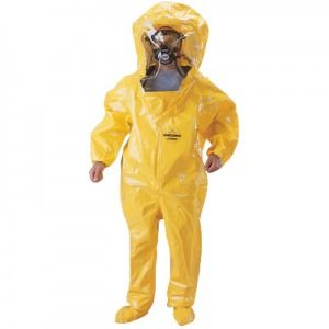 Dupont BR528TY Tychem BR Encapsulated Suit with Expandable Back - Taped Seams 1/Case