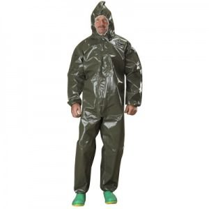 Tychem LV Coveralls with Attached Hood, Elastic Face, Wrists and Ankles - Taped Seams