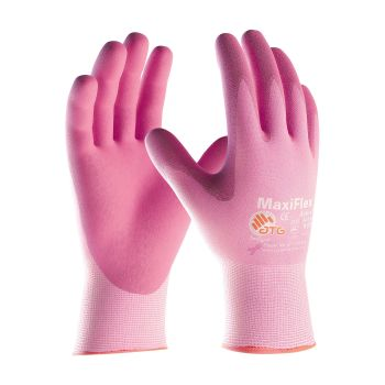 PIP 34-8264/L ATG Seamless Knit Nylon / Lycra Glove with Ultra Lightweight Nitrile Coated MicroFoam Grip on Palm & Fingers Large 12 DZ