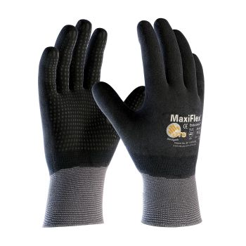 PIP ATG 34-846 MaxiFlex Endurance Gloves - Dotted Palms - Full Coat Nitrile Micro-Foam - Gray Color (1 DZ)