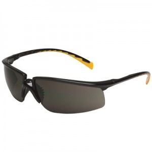 3M™ Privo™ Protective Eyewear 12262-00000-20 Black Frame, Orange Accent Temple Tips, Gray Anti-Fog Lens (Case of 20)