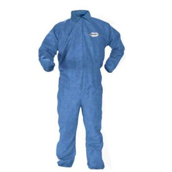 Kimberly Clark Bloodborne Pathogens & Chemical Splash Protection Coveralls Blue Color 24/Case