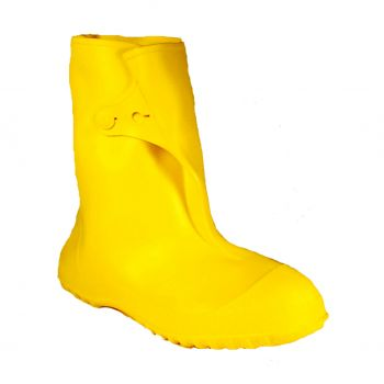 Tingley Workbrutes 10 in Work Boot Molded In Button For Secure Closure Yellow Cleated Outsole