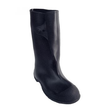 "Tingley Workbrutes 14"" Knee Boot Molded In Button For Secure Closure Black Cleated Outsole"