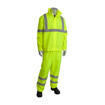 PIP Falcon 353-1000 Two Piece Rain Suit, Class 3 Hi Viz (1 Set)