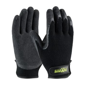 PIP 39-C1375/XL Maximum Safety Seamless Knit Cotton / Polyester Glove with Latex Coated Crinkle Grip on Palm & Fingers Hook & Loop Closure XL 6 DZ