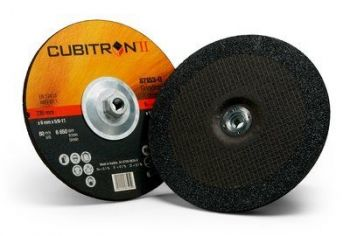 3M™ Cubitron™ II Depressed Center Grinding Wheel, 87153, T27 Quick Change, 9 in x 1/4 in x 5/8-11 in, 10 per inner, 20 per case