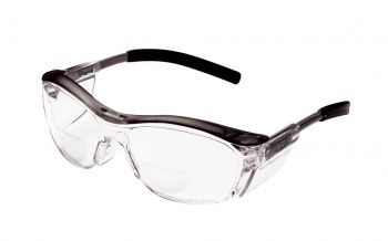 3M™ Nuvo™ Reader Protective Eyewear 11436-00000-20 Clear Lens, Gray Frame, +2.5 Diopter 20 EA/Case