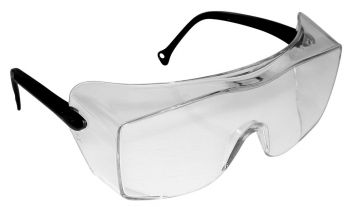 3M™ OX™ Protective Eyewear 12159-00000-20 Clear Lens, Black Temple