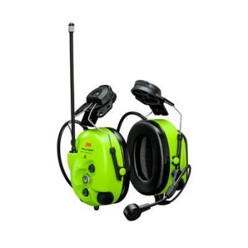 3M™ PELTOR™ WS™ LiteCom Pro III Headset MT73H7P3E4D10NA GB, Bright Yellow, Hard Hat Attachment