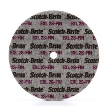 3M™ Scotch-Brite™ EXL Unitized Wheel, 6 in x 1/2 in x 1/2 in, 2S FIN, 4 per case