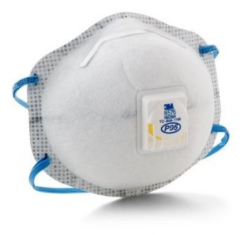 3M 8576 P95 Particulate Respirator with Nuisance Level Acid Gas Relief, Box of 10