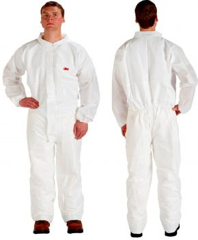 3M Disposable Protective Coverall Safety Work Wear 4510CS-BLK-L 25 EA/Case
