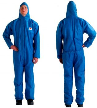 3M Disposable Protective Coverall Safety Work Wear 4515-XL-Blue 20 EA/Case