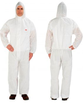 3M Disposable Protective Coverall Safety Work Wear 4515-XL-White 20 EA/Case